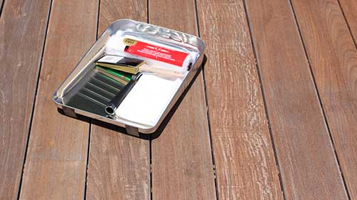 Let your hardwood deck dry