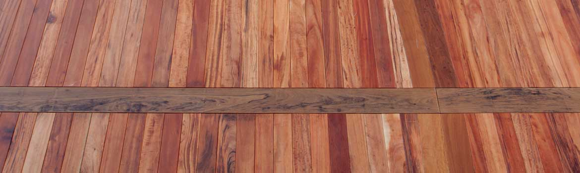 Fastener free hardwood surface created with Ipe Clip® hidden deck fasteners