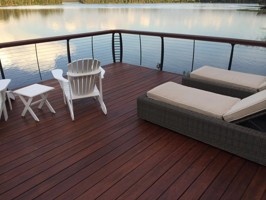 Ipe lake dock finished with Ipe Oil™ hardwood finish