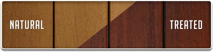 Ipe Oil™ wood vs untreated wood