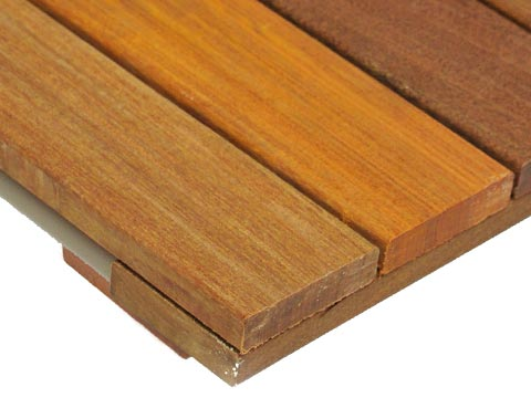Ipe Smooth WiseTile™ Hardwood Deck Tile close up