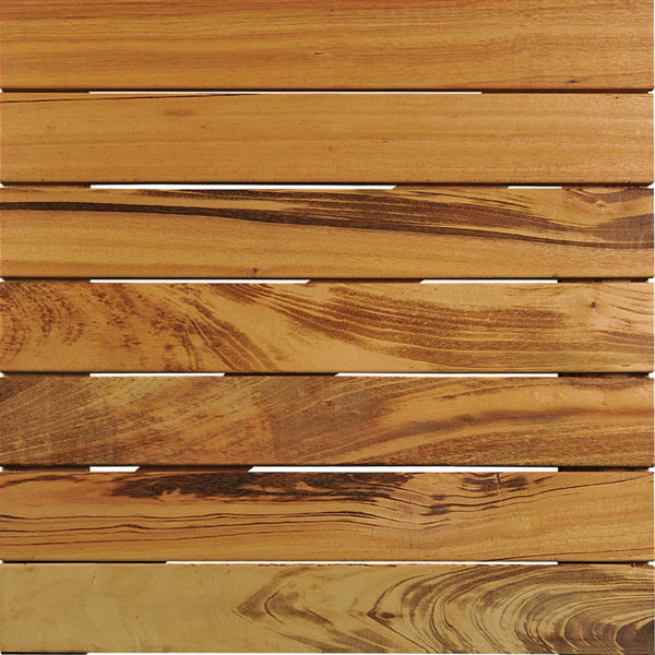 WiseTile™ Tigerwood modular hardwood deck tile