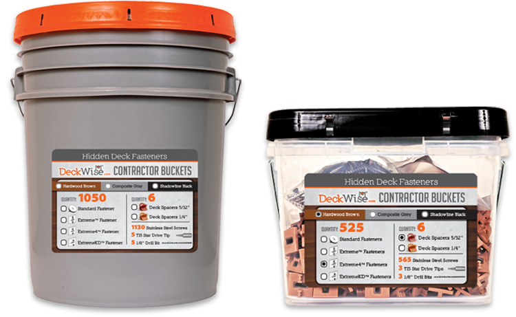 Ipe Clip® Extreme® contractor buckets
