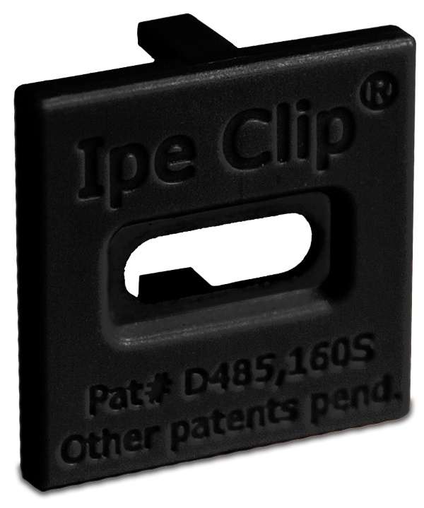 Ipe Clip® Extreme® Shadowline Black front view