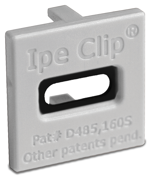 Ipe Clip® ExtremeKD® Composite Grey front view